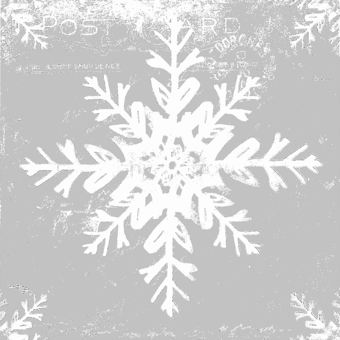 ppd Servietten,  Winter - Kristalle / Flocken,  Weihnachten,  lunchservietten,  Schneeflocken