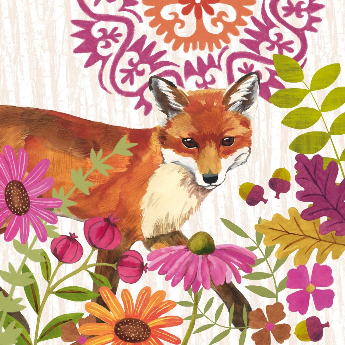Servietten Herbst,  Tiere -  Sonstige,  Herbst,  lunchservietten,  Fuchs