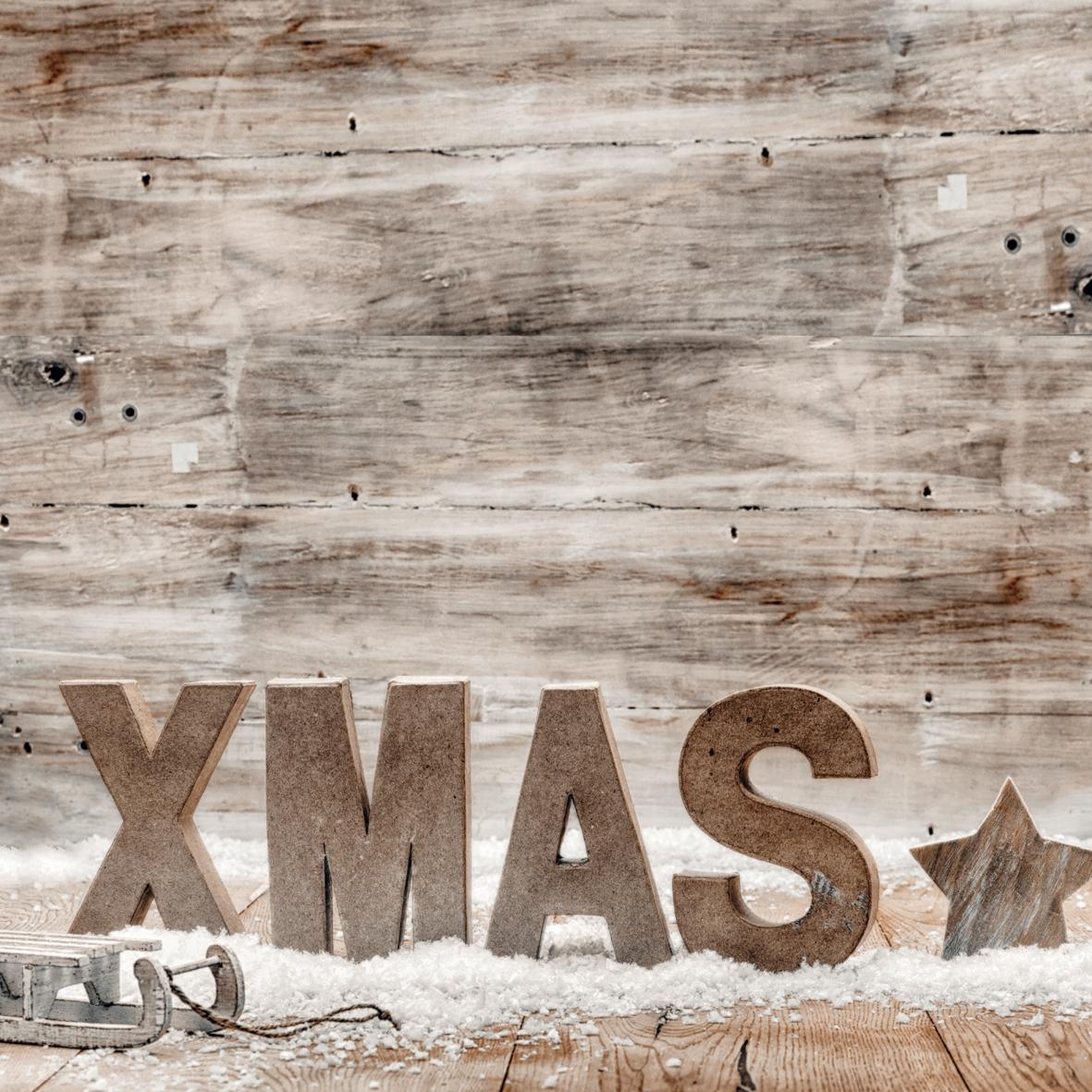 Servietten / Sonstiges,  Sonstiges - Schriften,  Weihnachten - Sterne,  Winter - Schlitten,  Weihnachten,  lunchservietten,  Schnee,  Sterne,  Schriften
