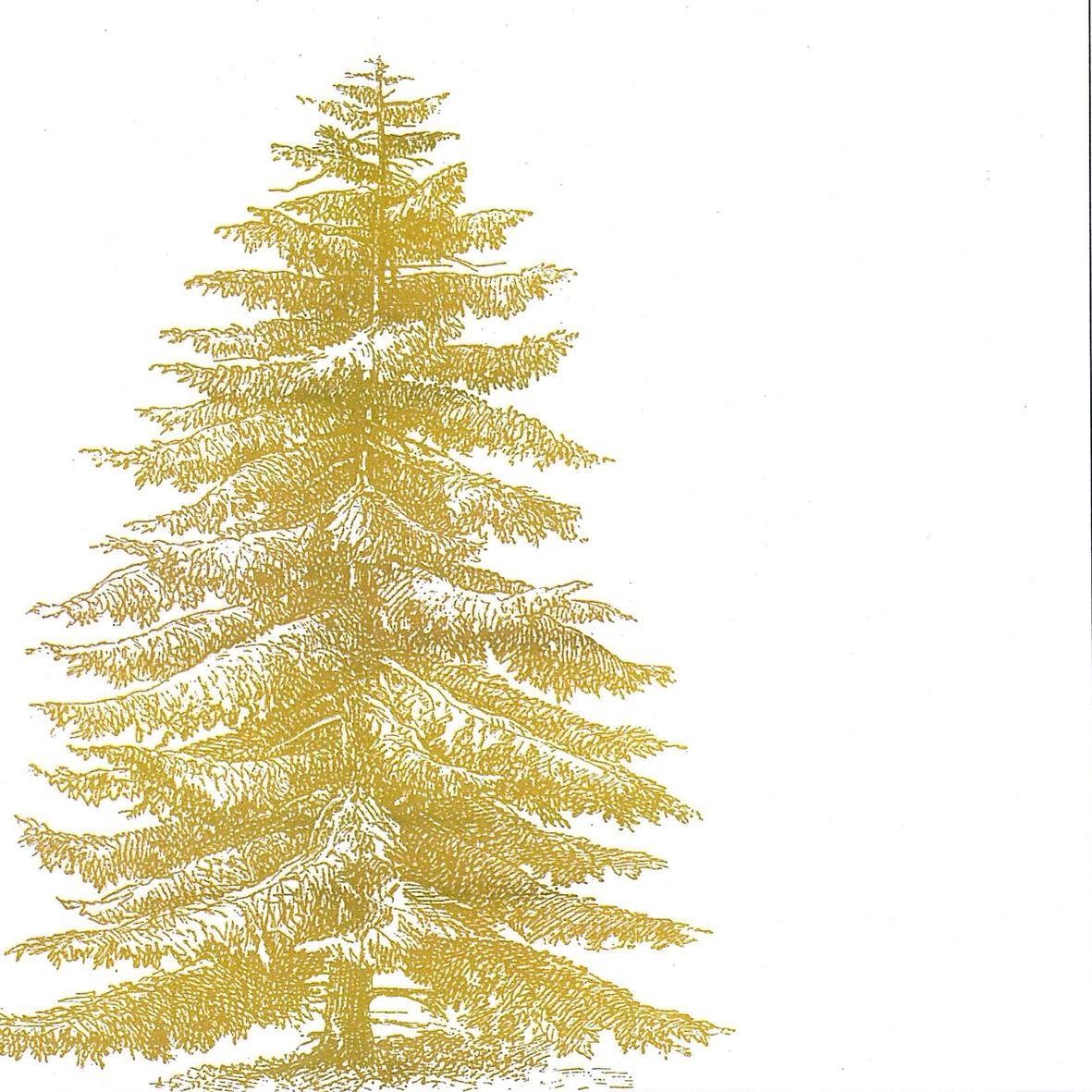 Lunch Servietten Engraved Tree,  Weihnachten - Weihnachtsbaum,  Weihnachten,  lunchservietten,  Tannenbaum