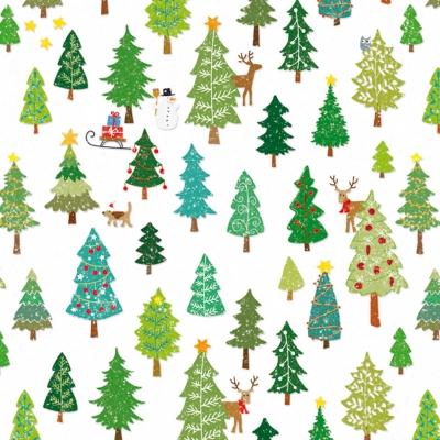 Lunch Servietten Winter Forest,  Tiere - Reh / Hirsch,  Weihnachten - Weihnachtsbaum,  Herbst,  lunchservietten,  Weihnachtsbaum,  Hirsch