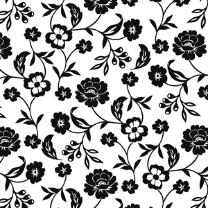 Lunch Servietten Flowers black/white,  Blumen -  Sonstige,  Blumen - Rosen,  Everyday,  lunchservietten