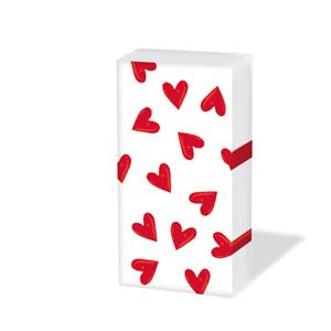 Taschentücher Heartbreaker white,  Ereignisse,  Everyday,  bedruckte papiertaschentücher,  Herzen