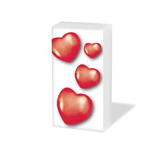 Taschentücher Red Heart,  Ereignisse,  Everyday,  bedruckte papiertaschentücher