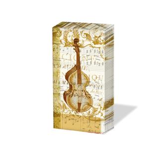 10 bedruckte Taschentücher ,  Sonstiges,  bedruckte papiertaschentücher,  Geige