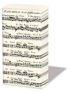 Taschentücher Adagio,  Everyday,  bedruckte papiertaschentücher,  Musik,  Noten
