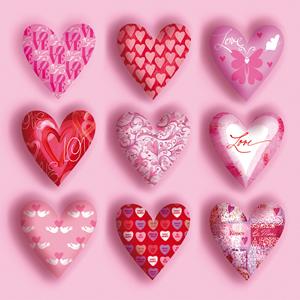 20 Servietten - 33 x 33 cm ,  Sonstiges - Muster,  Sonstiges -  Sonstiges,  Ereignisse - Liebe,  Everyday,  lunchservietten,  Herzen