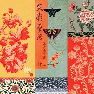 Lunch Servietten Asia,  Sonstiges - Muster,  Tiere - Schmetterlinge,  Blumen -  Sonstige,  Everyday,  lunchservietten