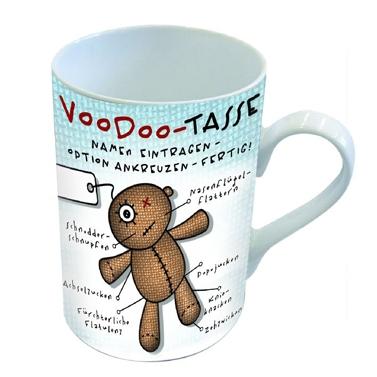 Porzellan-Henkelbecher Mug Voodoo,  Comic,  Teddybär