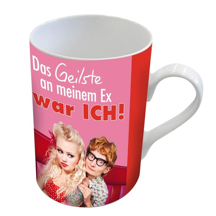 Porzellan-Henkelbecher Geilste Ex                      ,  Comic,  Liebe,  Mann,  Frau