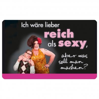 Frühstücksbrettchen Reich und Sexy                 ,  Comic