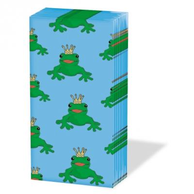 Taschentücher Frog King                        ,  Tiere,  Everyday,  bedruckte papiertaschentücher,  Frösche