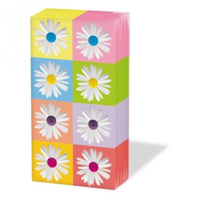 10 bedruckte Taschentücher ,  Blumen,  Everyday,  bedruckte papiertaschentücher,  Blumen