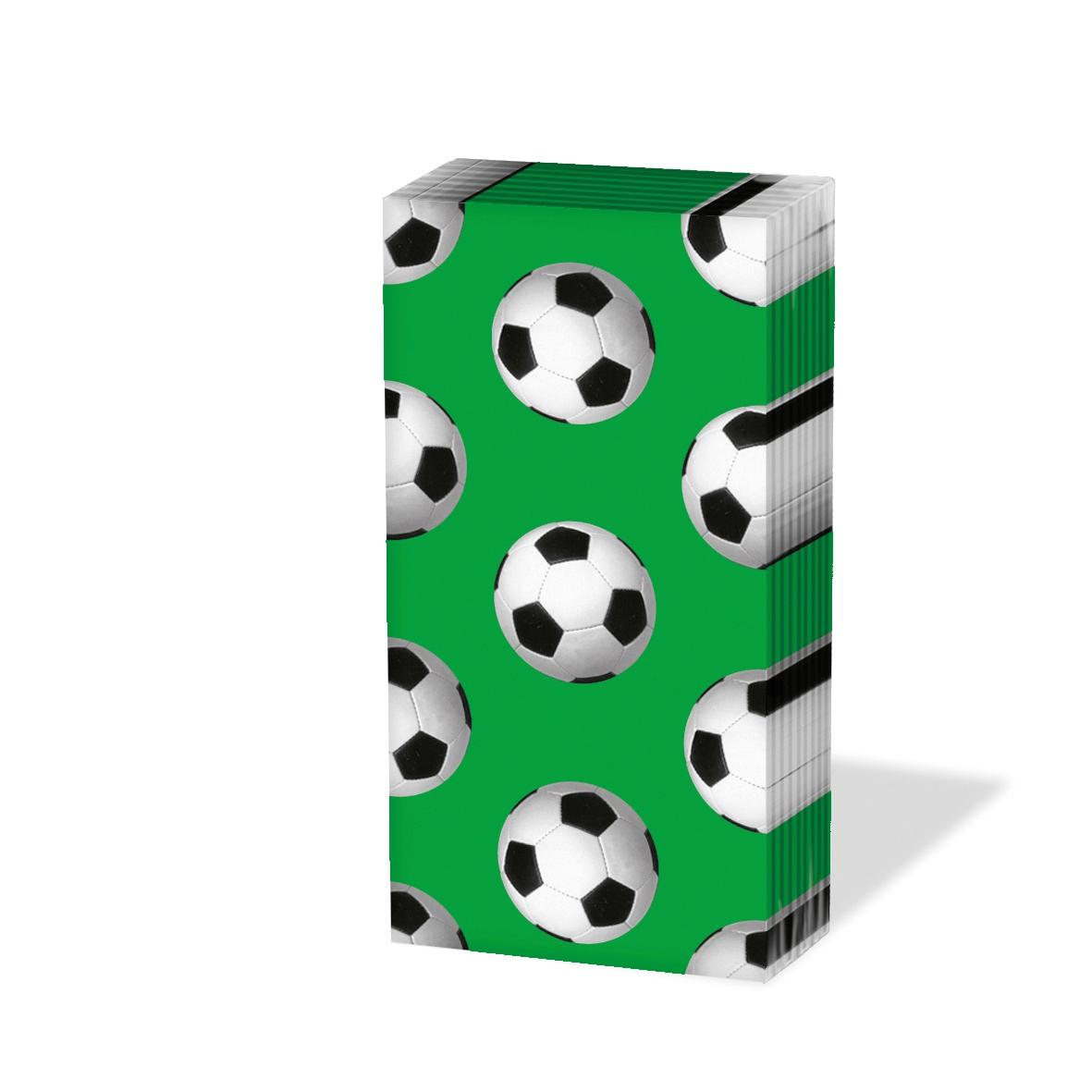 Taschentücher Soccer green                      ,  Sport,  Everyday,  bedruckte papiertaschentücher,  Fußball,  Ball