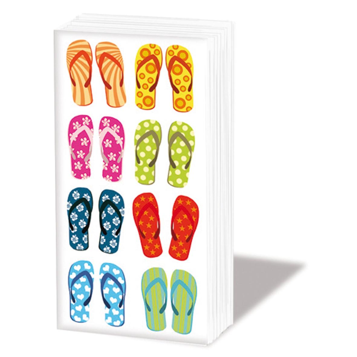 Taschentücher Tropical FlipFlop,  Everyday,  bedruckte papiertaschentücher,  Badelatschen