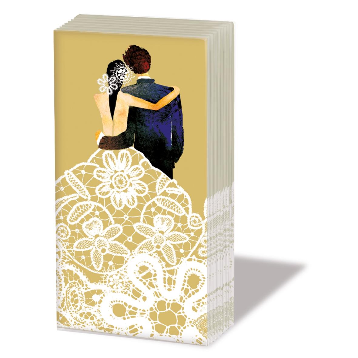 Taschentücher Wedding Couple gold,  Ereignisse,  Everyday,  bedruckte papiertaschentücher