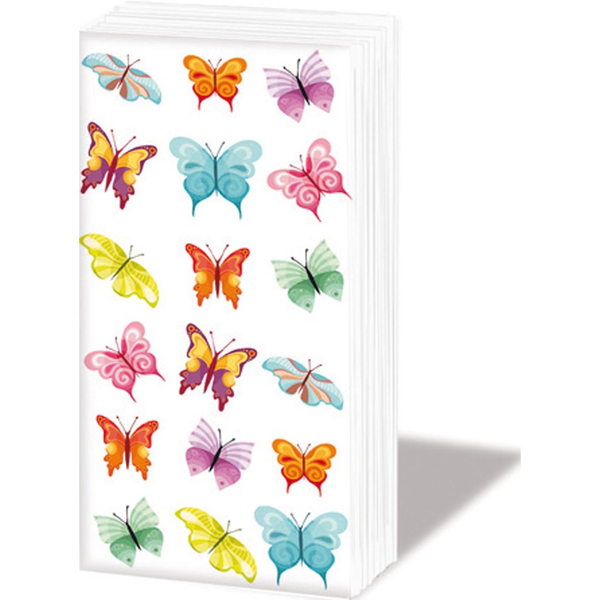 Taschentücher Butterflies Collage,  Tiere,  Everyday,  bedruckte papiertaschentücher,  Schmetterlinge