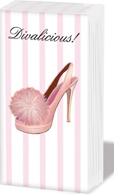 Taschentücher Divalicious!,  Sonstiges,  Everyday,  bedruckte papiertaschentücher,  Muster,  Schuhe