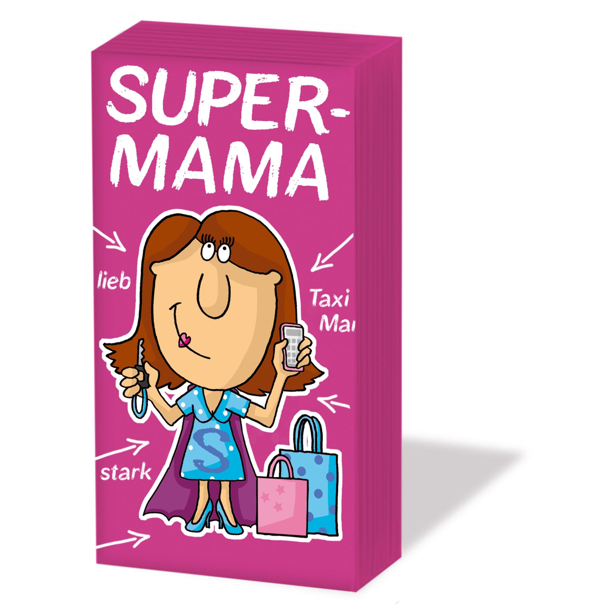 Taschentücher Super-Mama,  Sonstiges,  Everyday,  bedruckte papiertaschentücher