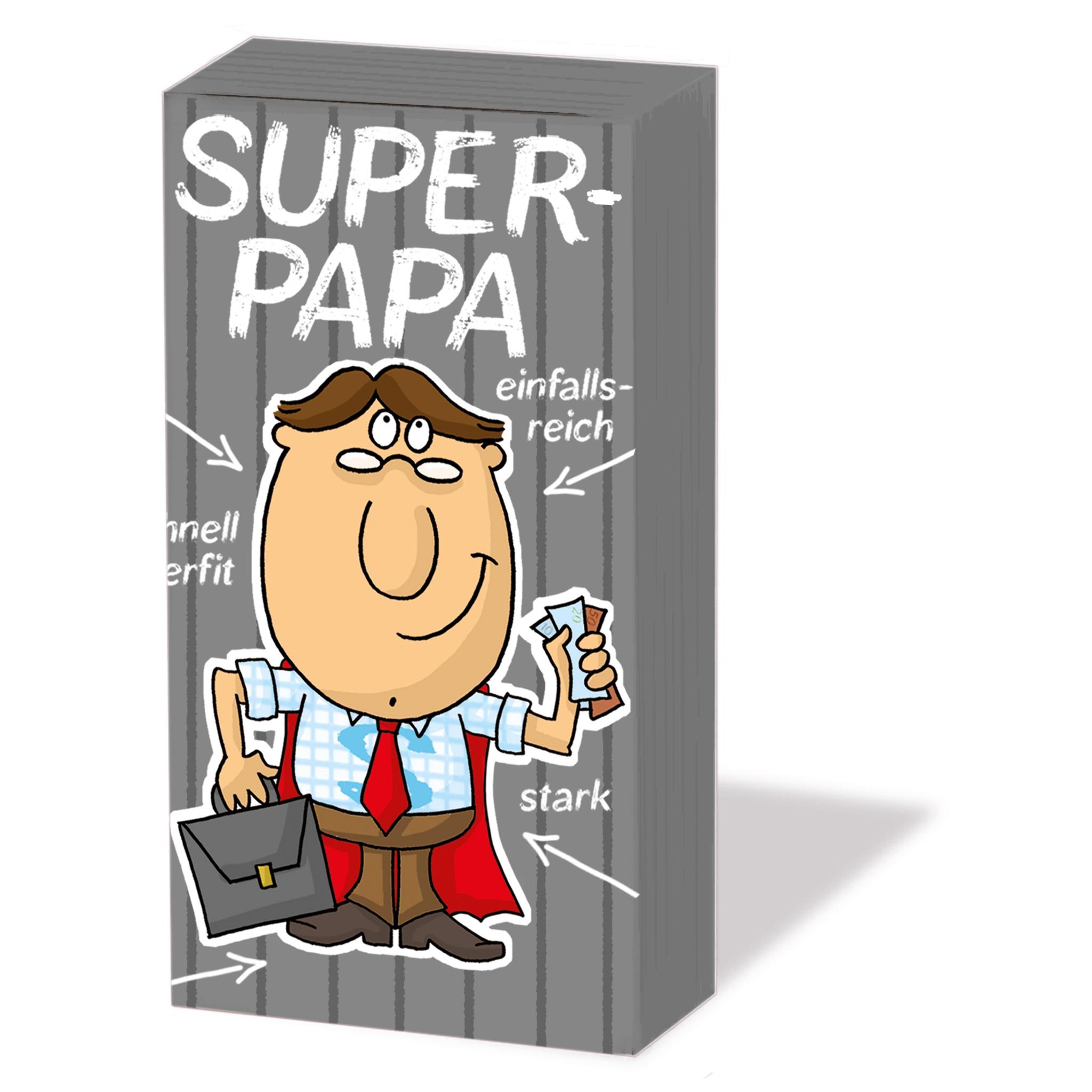 Taschentücher Super-Papa,  Sonstiges,  Everyday,  bedruckte papiertaschentücher