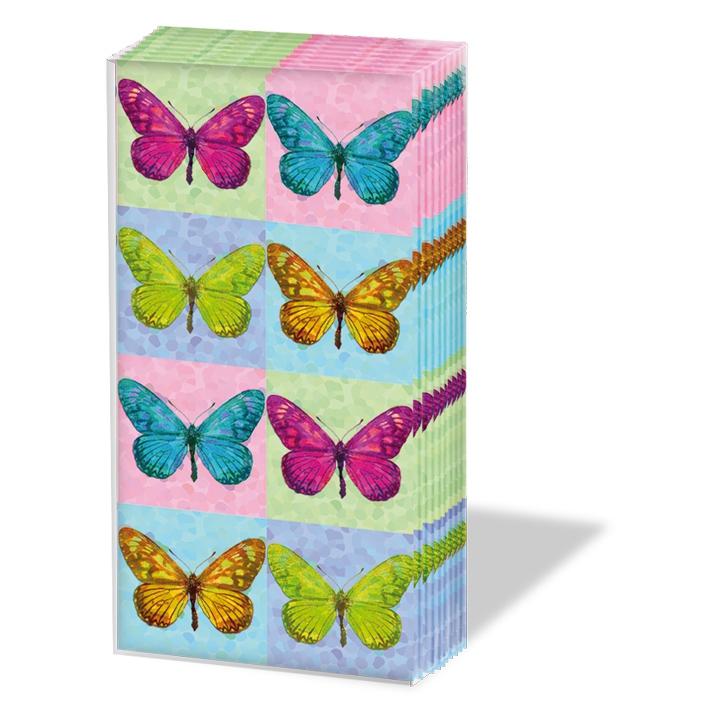 Taschentücher Pop Art Butterflies,  Frühjahr,  Tiere,  Everyday,  bedruckte papiertaschentücher