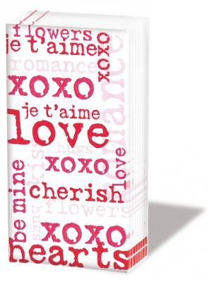 Taschentücher Love Graphic red