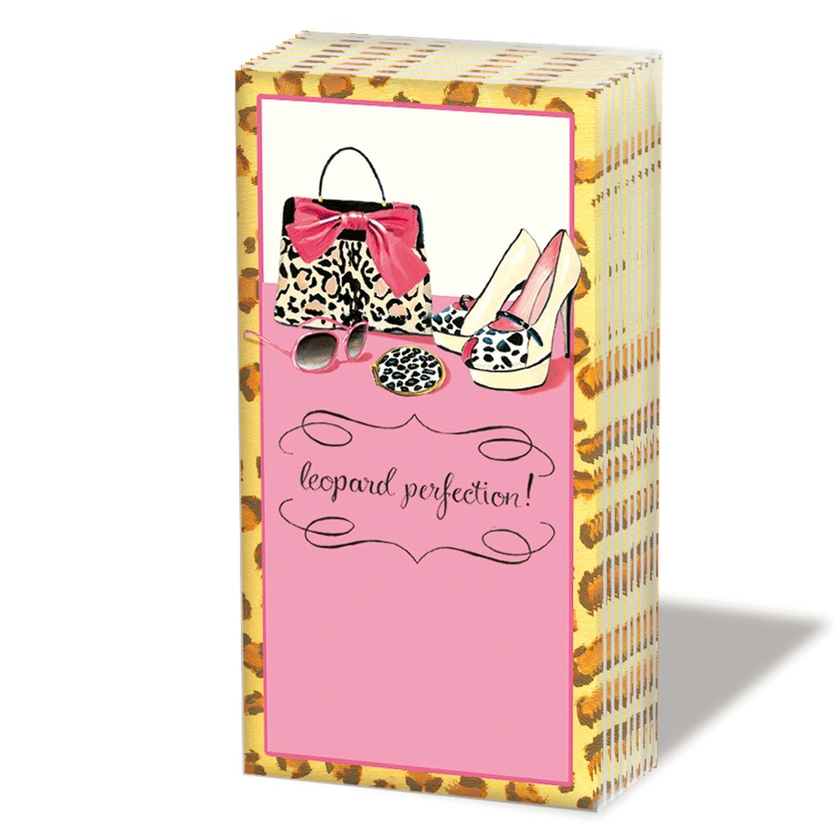 Taschentücher Leopard Perfection,  Everyday,  bedruckte papiertaschentücher,  Handtasche,  Schuhe