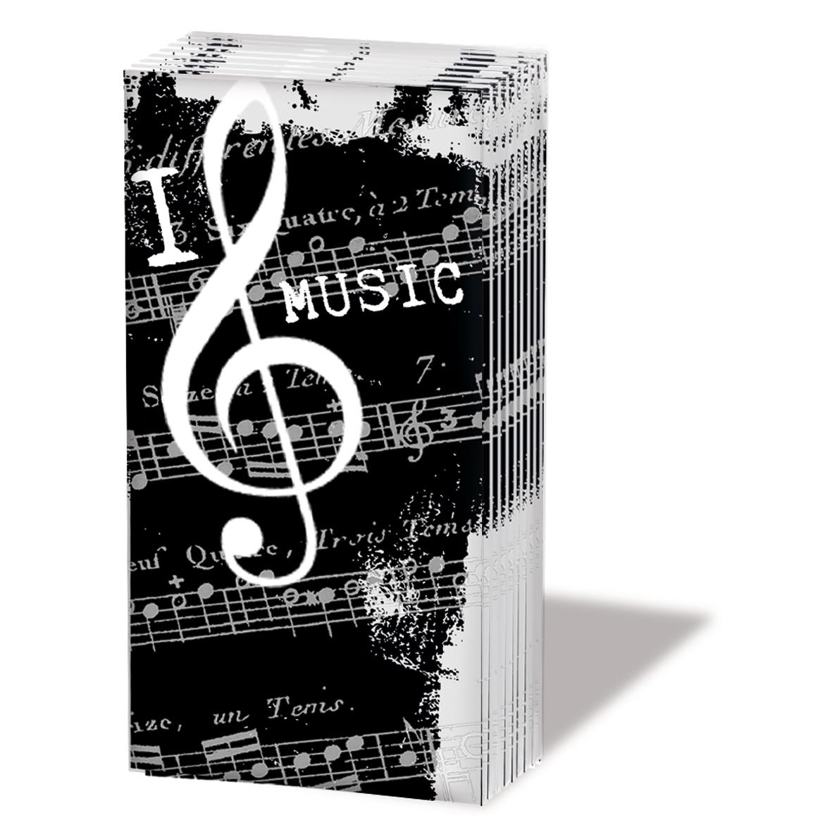 Taschentücher I Love Music,  Everyday,  bedruckte papiertaschentücher,  Musik