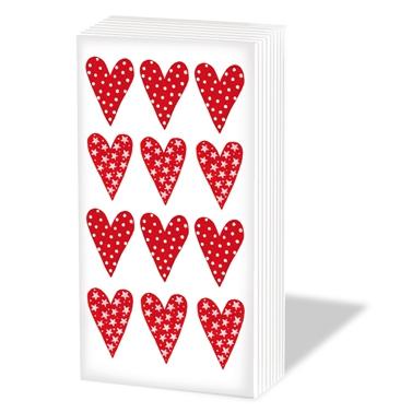 Paperproducts Design,  Everyday,  bedruckte papiertaschentücher,  Herzen,  Liebe