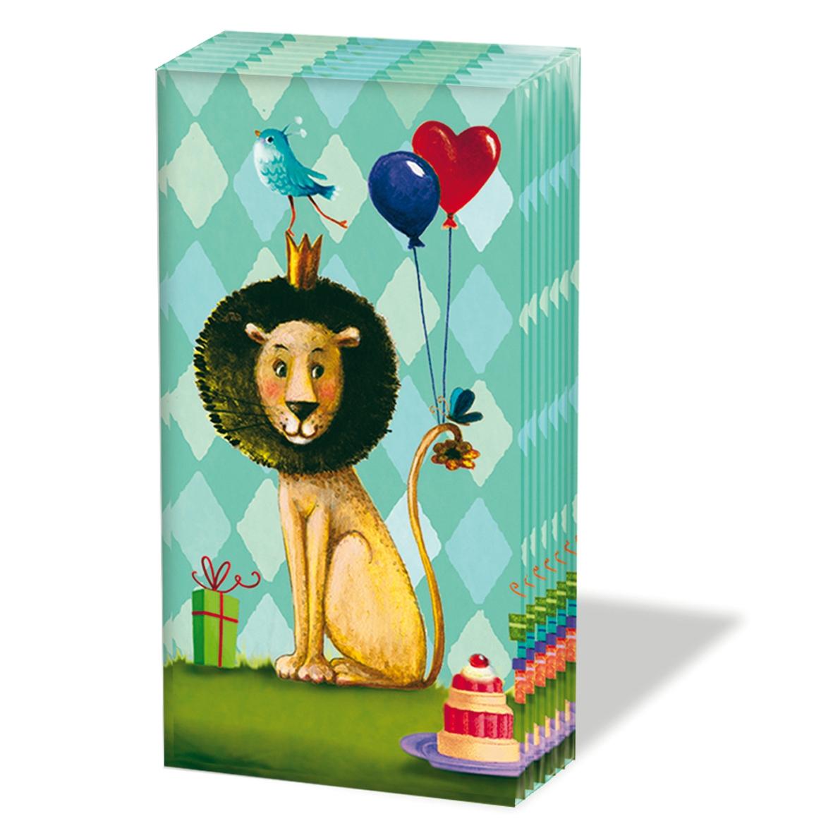 Paperproducts Design,  Tiere,  Everyday,  bedruckte papiertaschentücher,  Löwen,  Vögel,  Luftballon