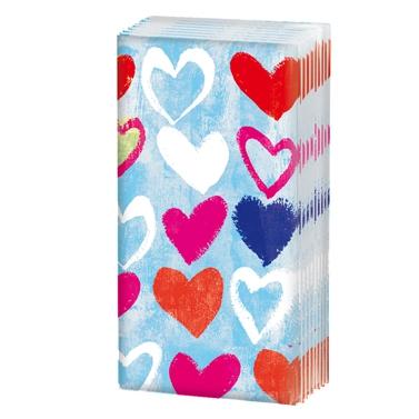 Taschentücher / sniff,  Ereignisse,  Everyday,  bedruckte papiertaschentücher,  Liebe,  Herz