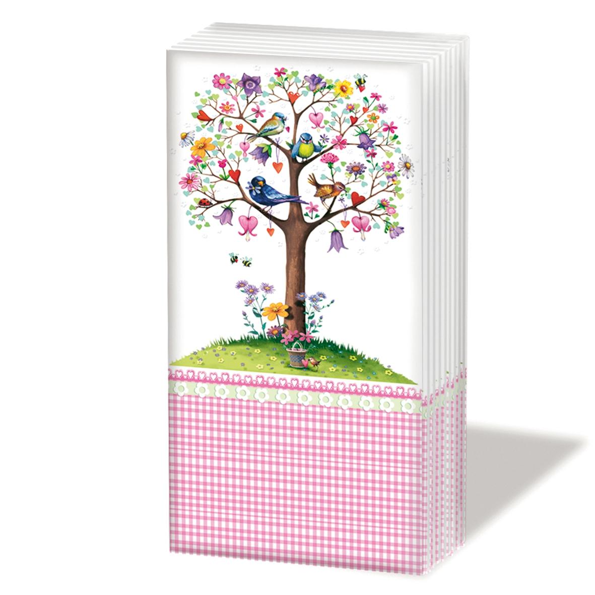 Taschentücher Love Tree white,  Tiere,  Everyday,  bedruckte papiertaschentücher,  Baum,  Vögel