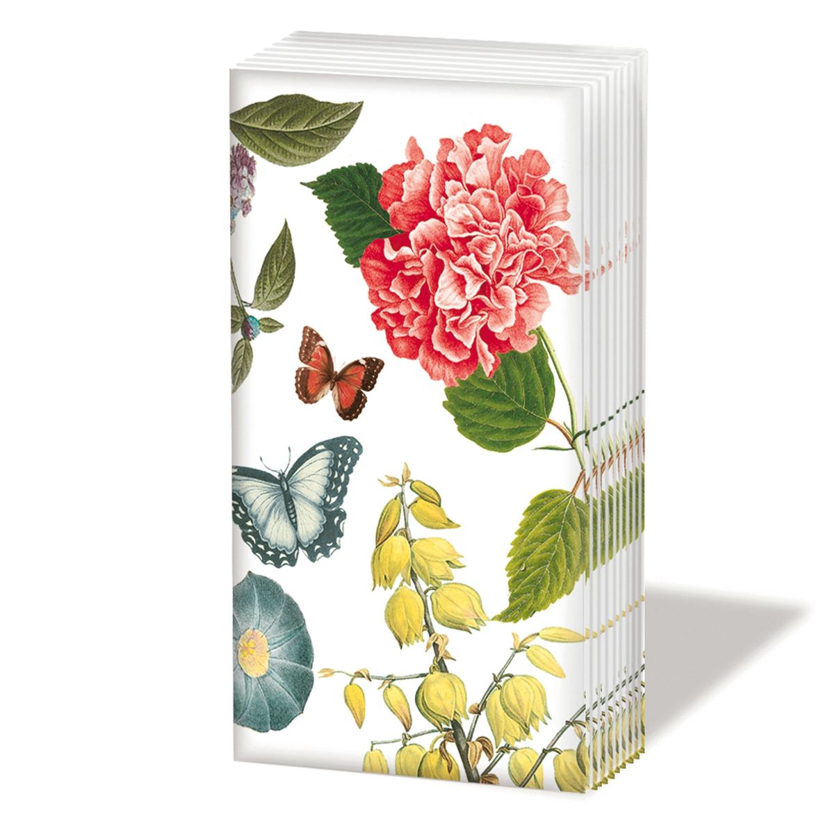 Taschentücher Victoria Garden,  Blumen,  Tiere,  Everyday,  bedruckte papiertaschentücher,  Blumen,  Schmetterlinge
