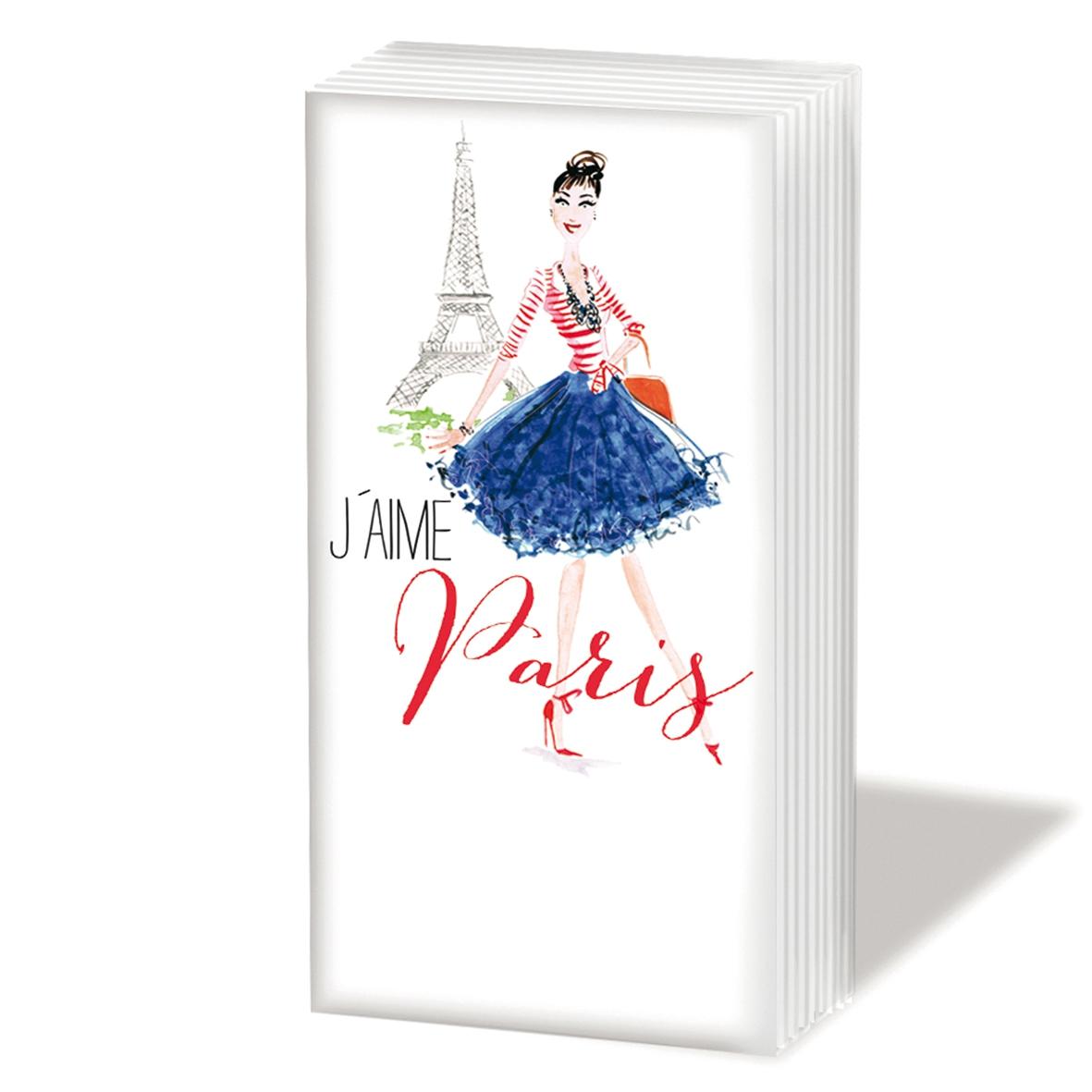 Taschentücher Paris City Girl,  Regionen,  Everyday,  bedruckte papiertaschentücher,  Paris