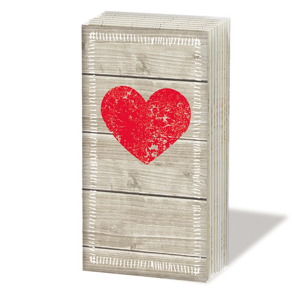 Taschentücher Heart of Wood,  Everyday,  bedruckte papiertaschentücher,  Herz,  Liebe