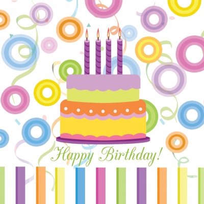 Lunch Servietten Happy Birthday!