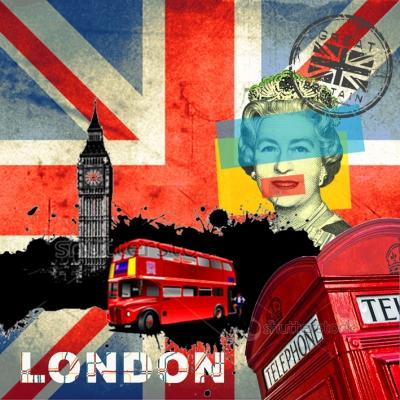 20 Servietten - 33 x 33 cm ,  Regionen -  Sonstige,  Menschen - Personen,  Fahrzeuge -  Sonstige,  Everyday,  lunchservietten,  Queen,  London,  Bus