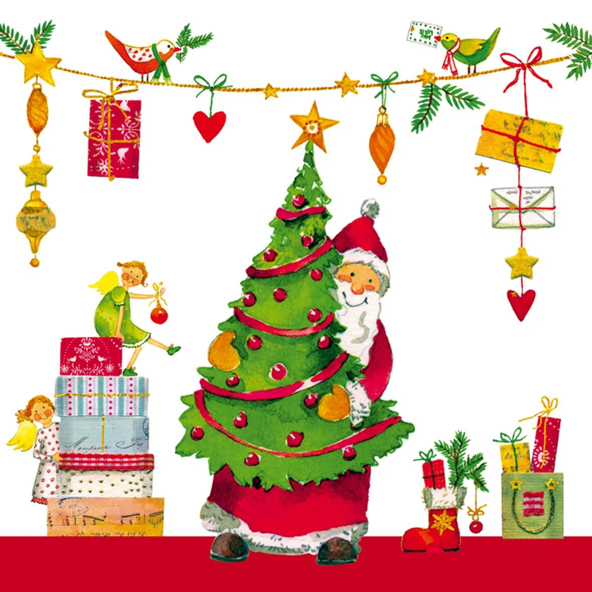 Lunch Servietten Gifts are coming,  Weihnachten - Weihnachtsbaum,  Weihnachten - Weihnachtsbaum,  Weihnachten,  lunchservietten