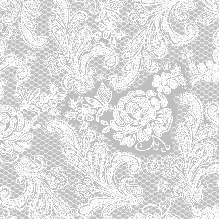 Lunch Servietten Lace Royal silver white