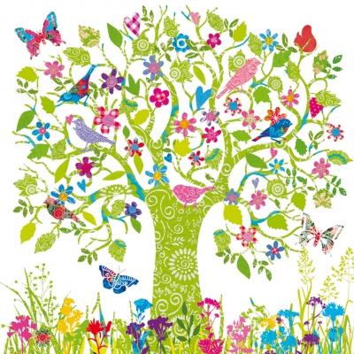 Servietten nach Motiven,  Tiere - Vögel,  Tiere - Schmetterlinge,  Blumen,  Everyday,  lunchservietten,  Baum