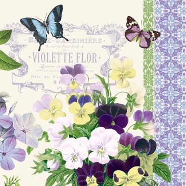 Lunch Servietten Vintage Violets