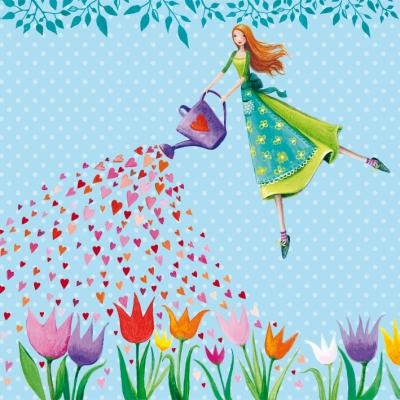 Lunch Servietten Garden Fairy
