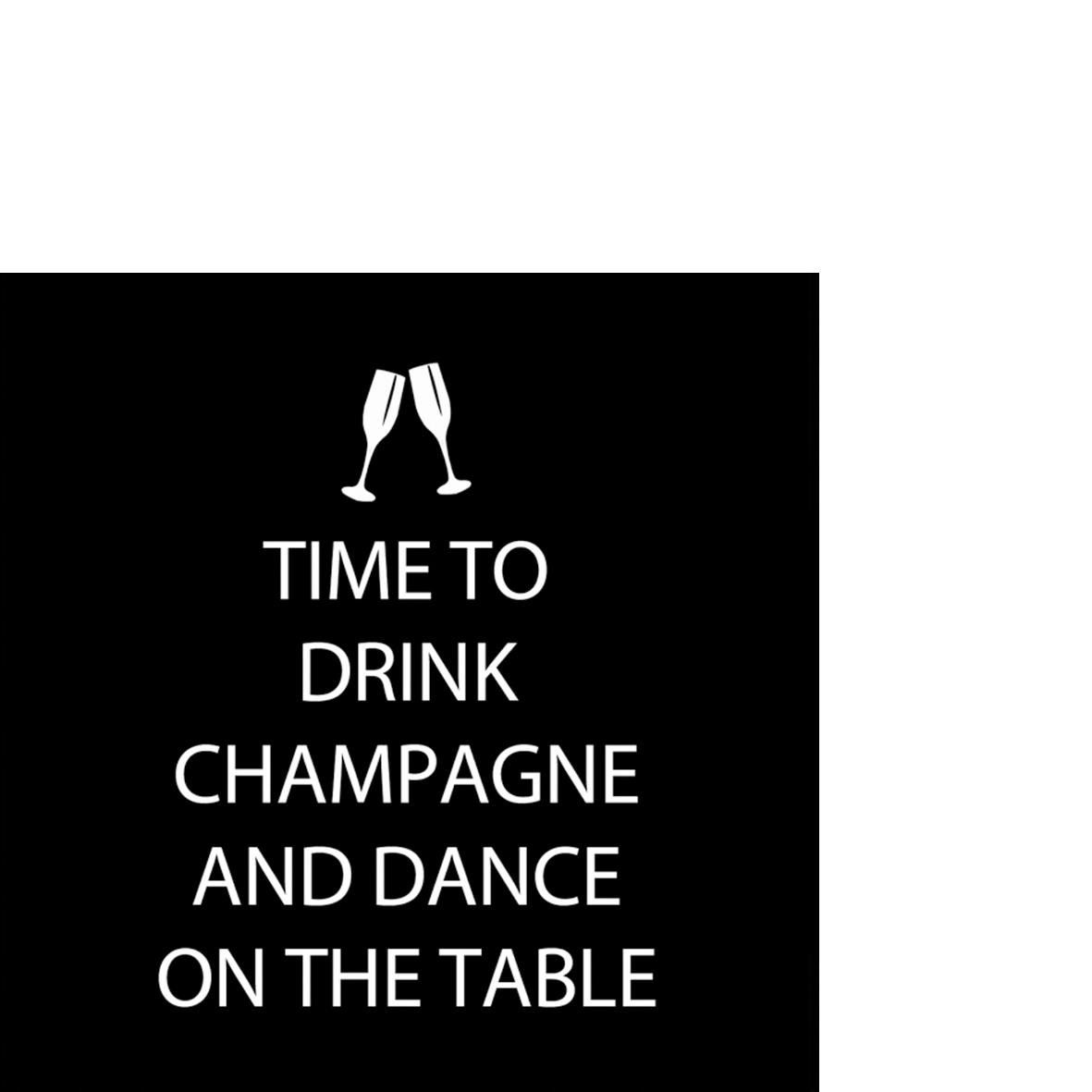 Cocktail Servietten Drink Champagne                  ,  Getränke - Wein / Sekt,   geprägte Servietten,  Everyday,  cocktail servietten,  Schriften,  lustig