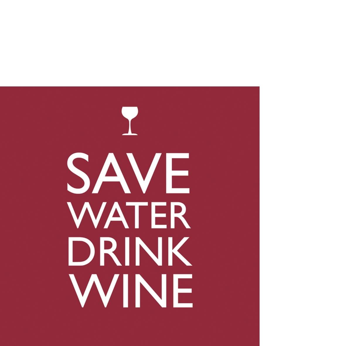 Servietten / Wein - Sekt,  Getränke - Wein / Sekt,  Everyday,  cocktail servietten,  Schriften,  lustig,  Wein
