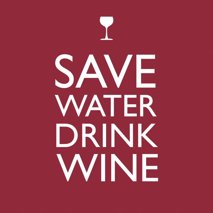 Lunch Servietten Save Water Drink Wine