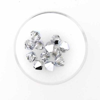 Swarovski Glasschliffperlen 6 mm Doppelkegel,