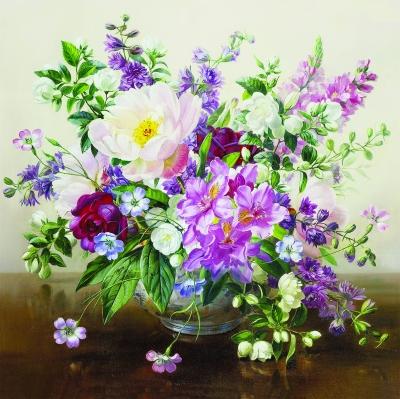 Lunch Servietten Bouquet Naturel,  Blumen -  Sonstige,  Everyday,  lunchservietten,  Rosen,  Blumen