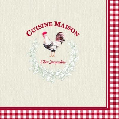 Lunch Servietten Culsine Maison,  Tiere - Huhn / Hahn,  Everyday,  lunchservietten,  Hahn