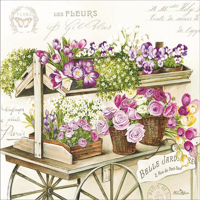 Easy Life,  Blumen - Tulpen,  Blumen - Rosen,  Blumen - Stiefmütterchen,  Everyday,  lunchservietten,  Stiefmütterchen,  Tulpen,  Rosen