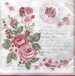 Lunch Servietten le Rosier Rose,  Blumen - Rosen,  Everyday,  lunchservietten